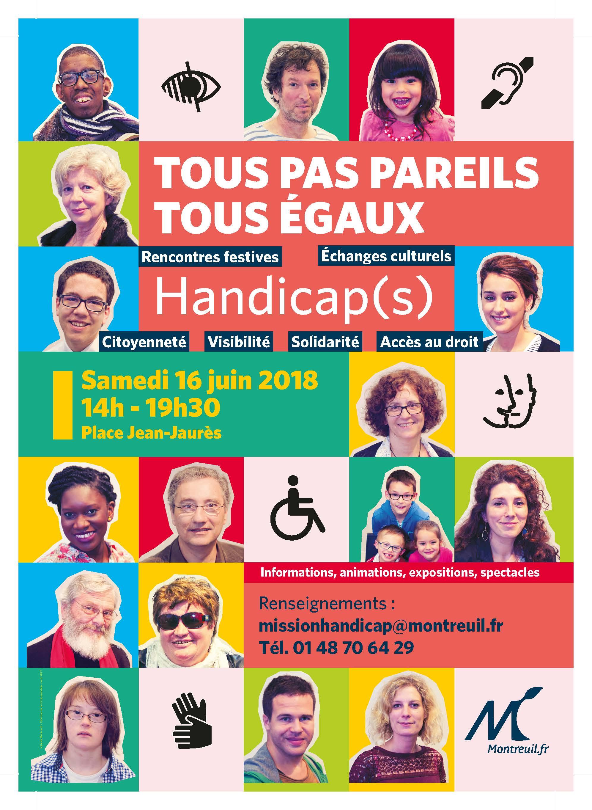 Tous Pas Pareils Tous Egaux le 11 mai 2019, de 14h à 19h30 – MONTREUIL