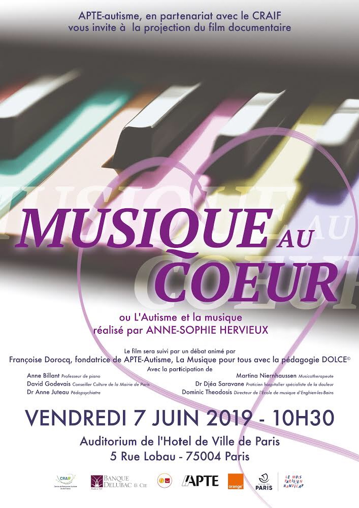 Projection Musique au cœur le 07/06/2019 (PARIS)